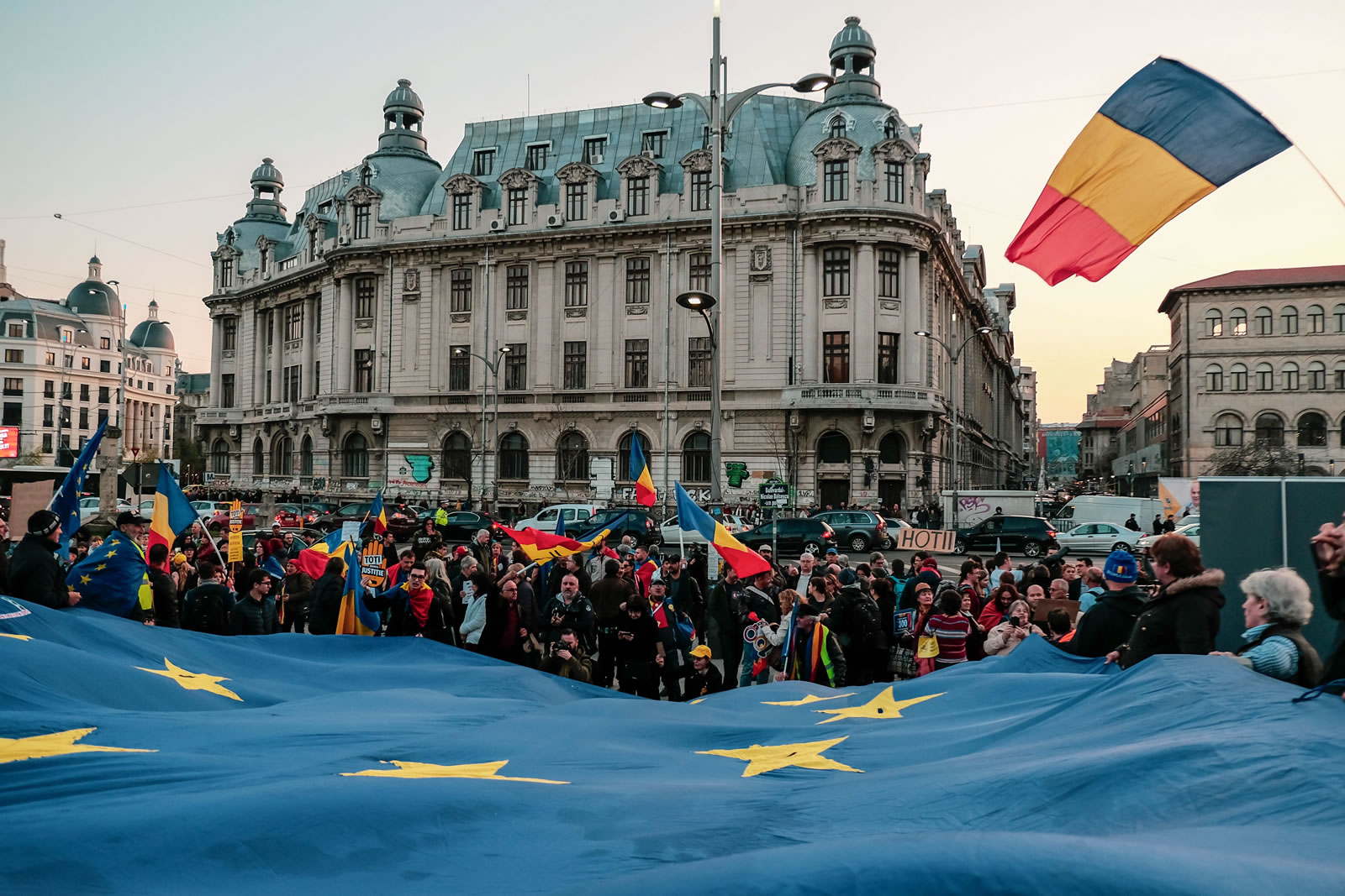 USR+Plus au lansat manifestul dedicat alegerilor europene. Foto: Dan Mihai Balanescu