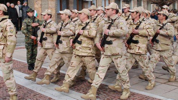 Poza a treia, tot cu militari bulgari