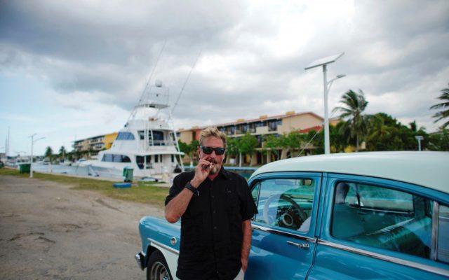 John McAfee la Havana. Foto: Reuters